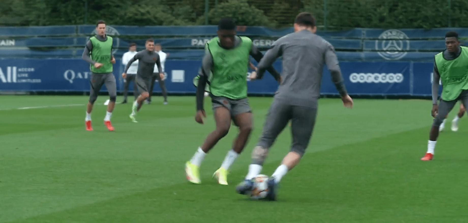PSG/City - Retrouvez des extraits de l'entraînement auprès de Messi