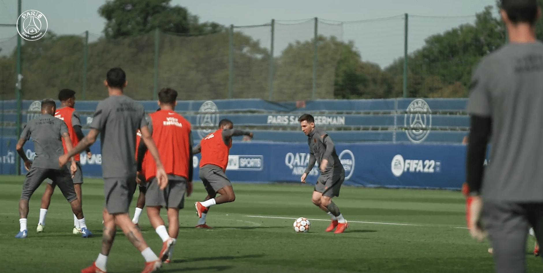 Bruges/PSG - Retrouvez des extraits de l'entraînement auprès de Messi