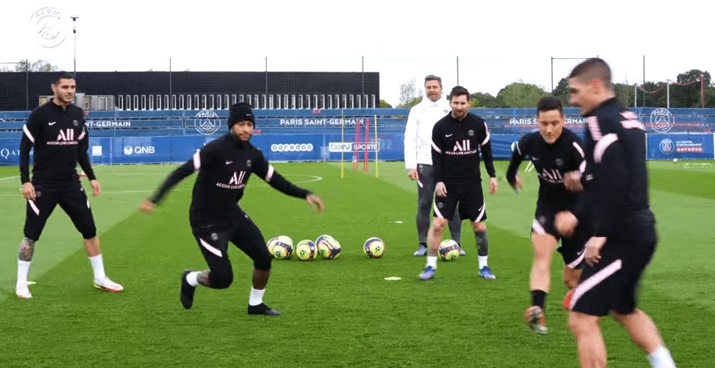 Rennes/PSG - Retrouvez des extraits de l'entraînement des Parisiens
